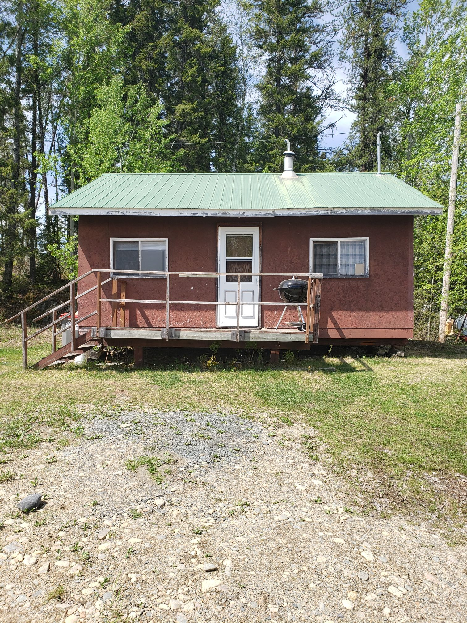 Beaver Cabin-Front View-Trappers Point Camp-Sturgeon Lake-Savant Lake-Ontario