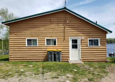 Fisher Cabin-Front View-Trappers Point Camp-Sturgeon Lake-Savant Lake-Ontario
