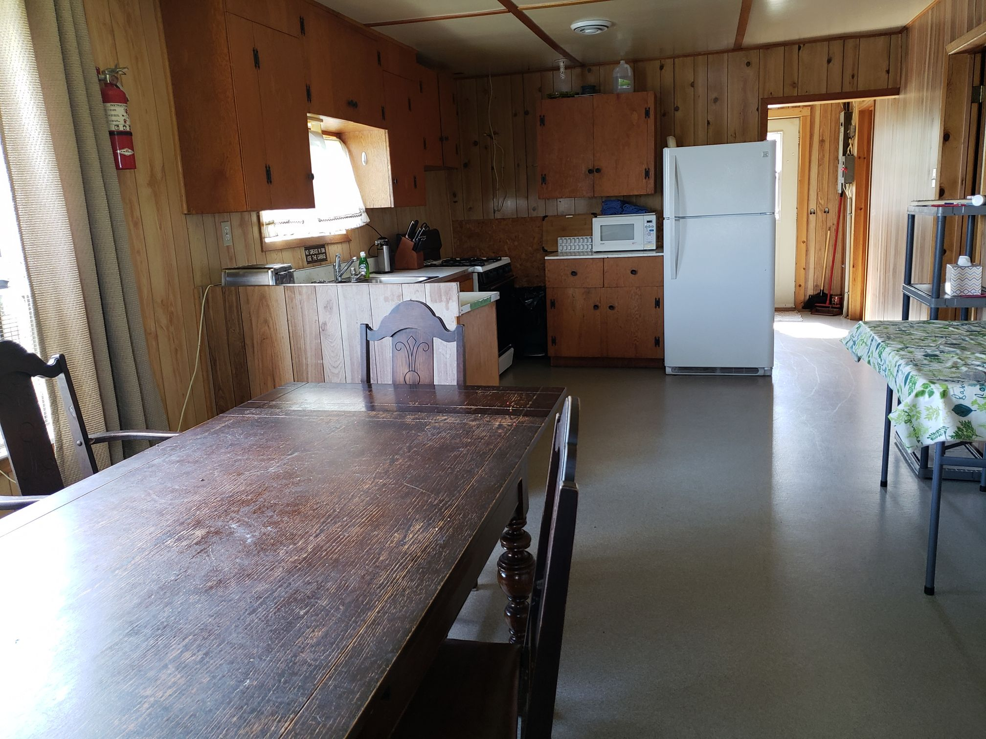 Fisher Cabin-Kitchen-Trappers Point Camp-Savant Lake-Ontario