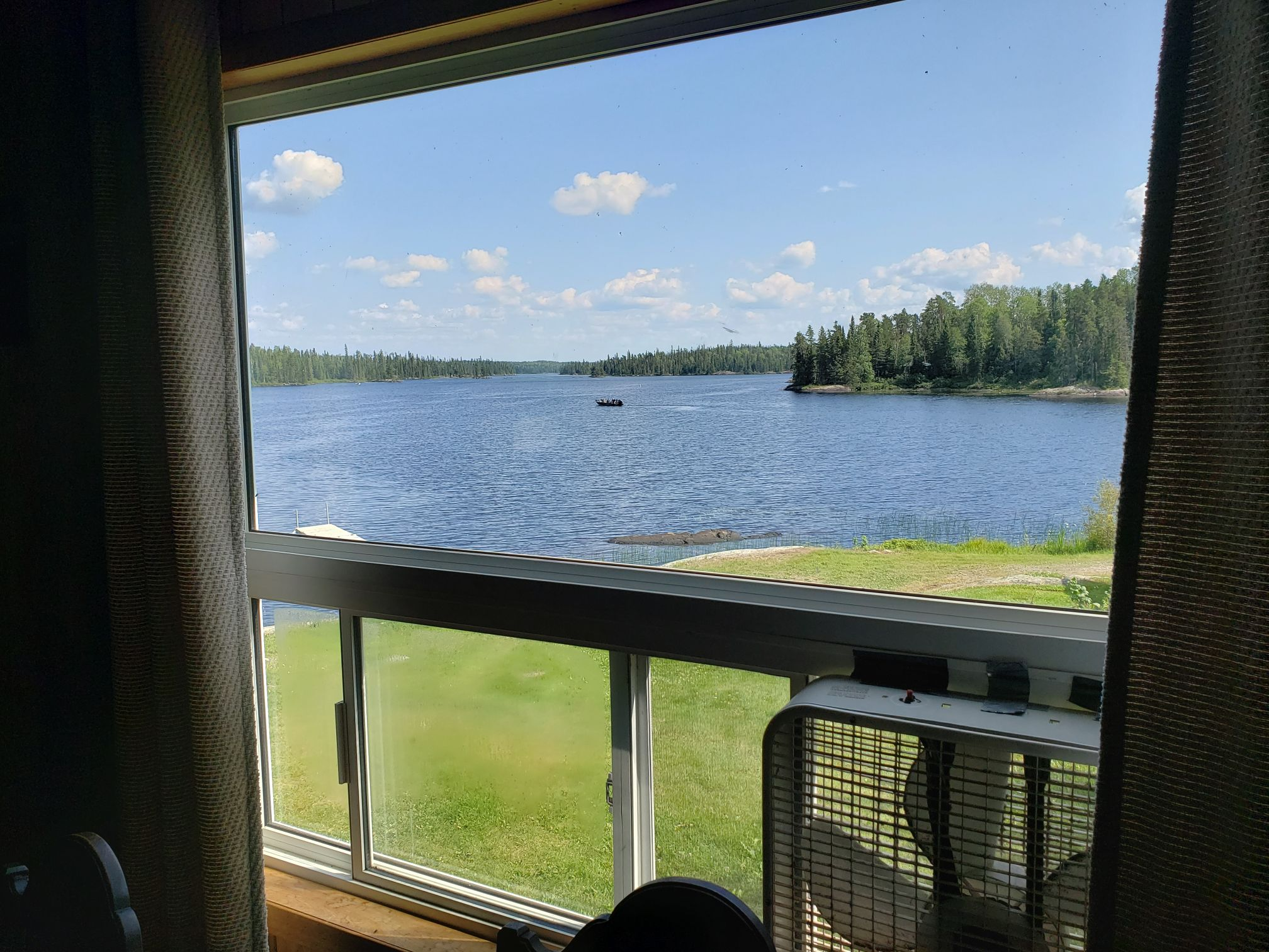 Fisher Cabin-Living room view-Trappers Point Camp-Savant Lake-Ontario