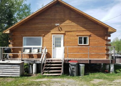 Lynx Cabin-Front View-Trappers Point Camp-Sturgeon Lake-Savant Lake-Ontario