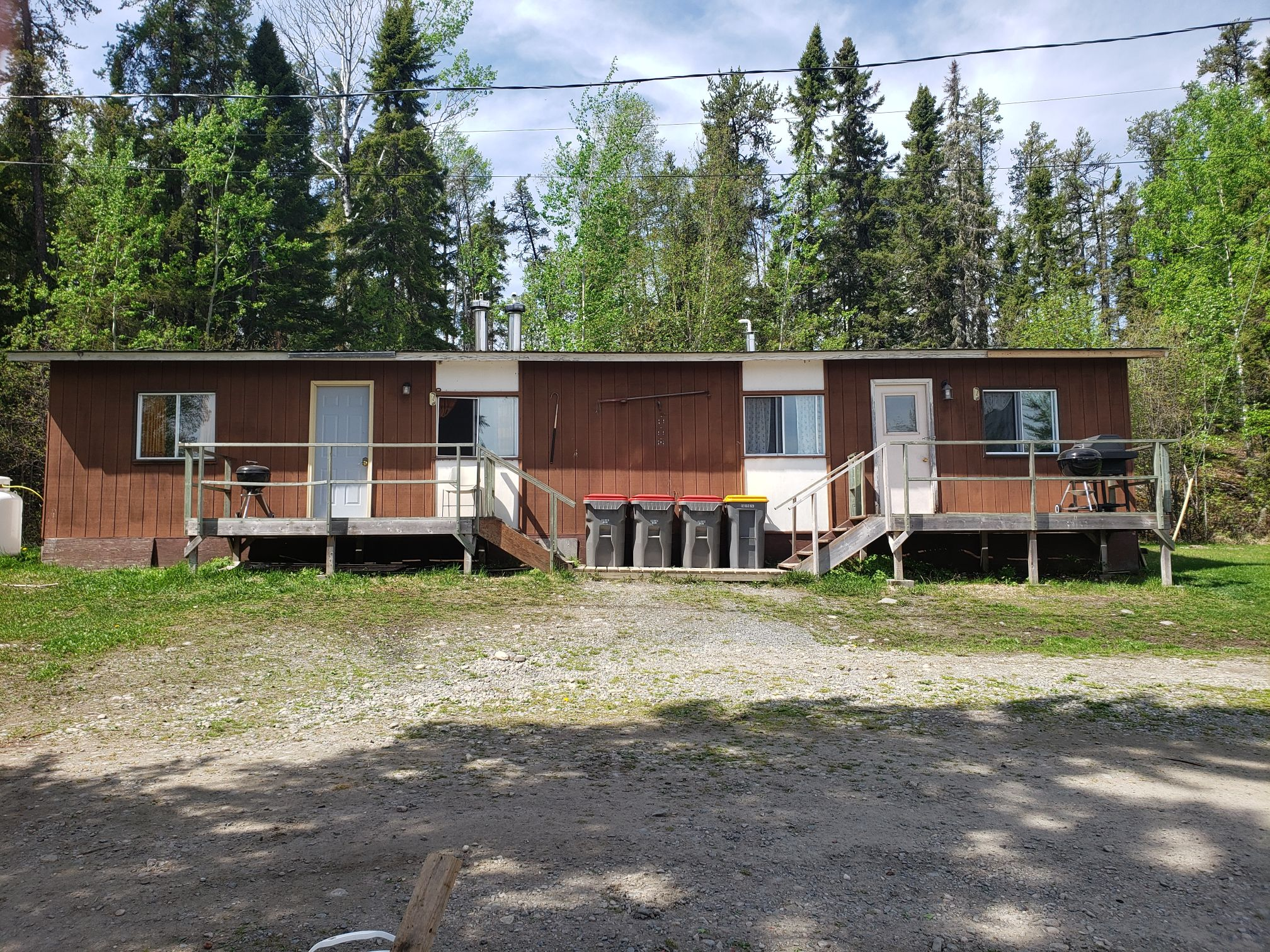Badger Cabin-Front View-Trappers Point Camp-Sturgeon Lake-Savant Lake-Ontario