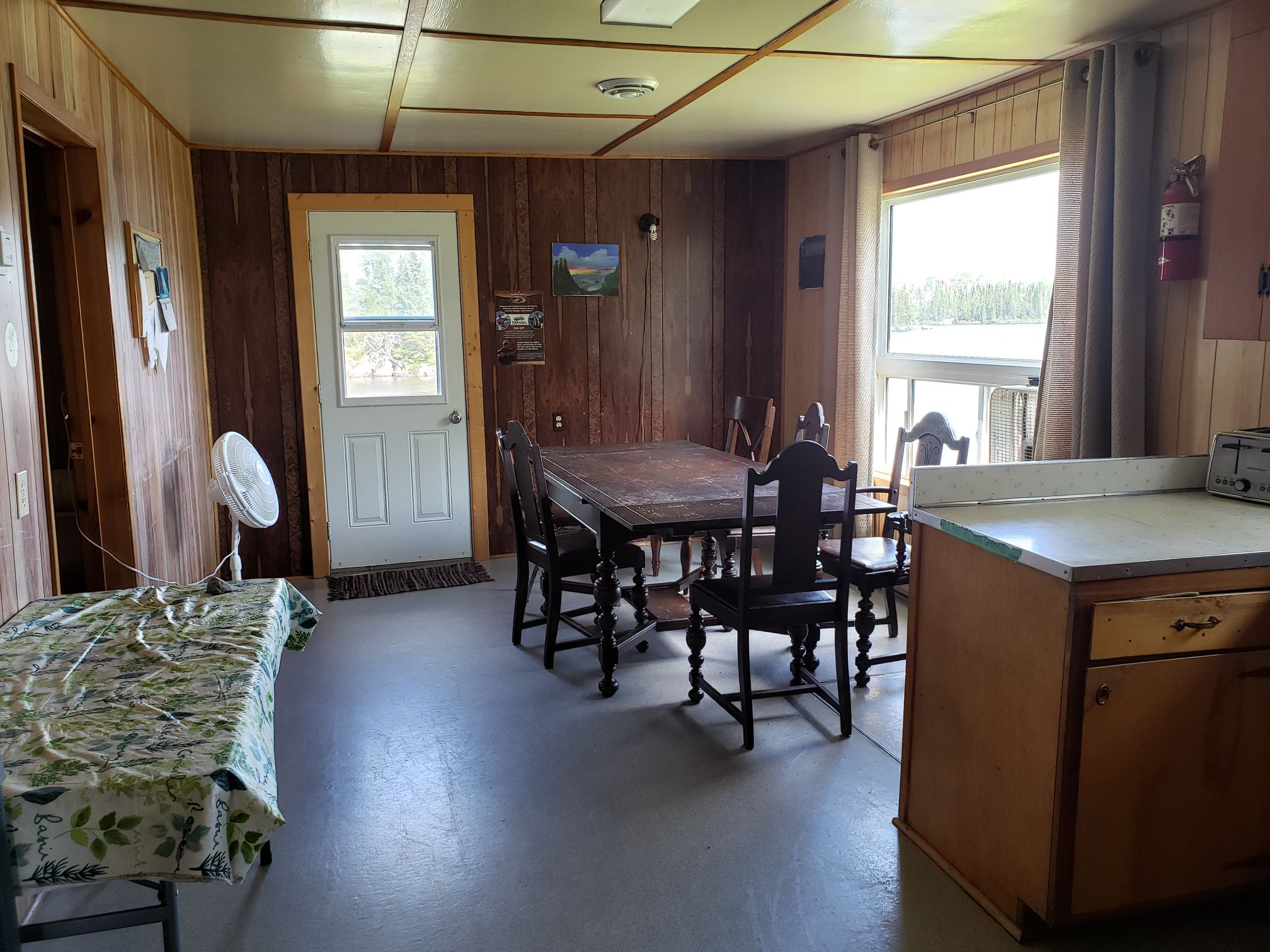 Fisher Cabin-Dining Room-Trappers Point Camp-Savant Lake-Ontario