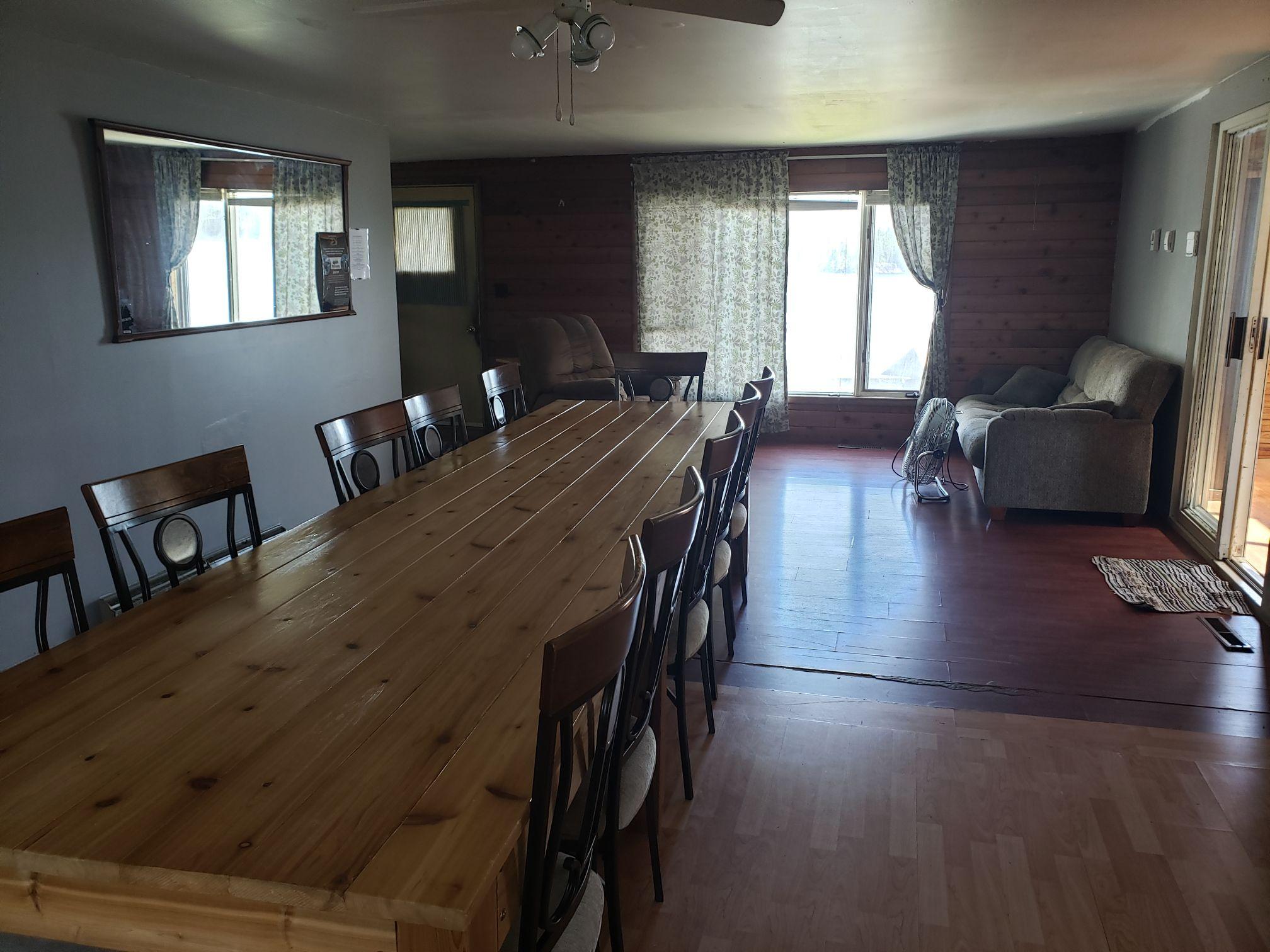 Timberwolf-Dining Room-Trappers Point Camp-Sturgeon Lake-Savant Lake-Ontario