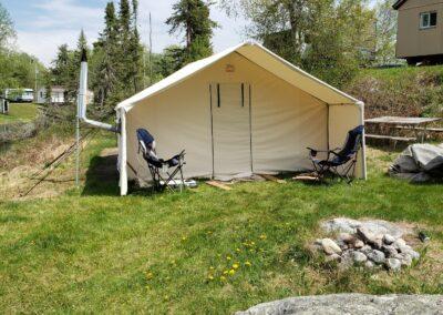 Wall Tent Rental-Trappers Point Camp-Sturgeon Lake-Savant Lake-Ontario